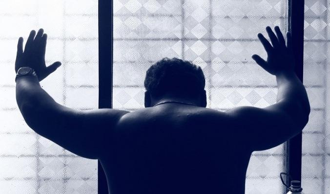 Muscular Man Male Back Blue Depressed Depression
